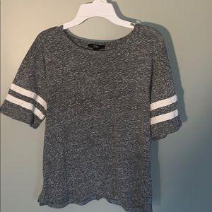 Grey football sleeve stripe